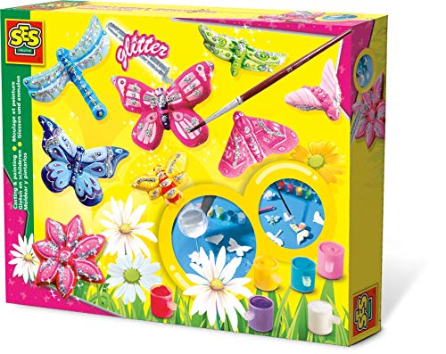SES Creative 01131 Children's Butterfly Glitter Casting and Painting Set
