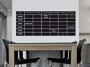 klebefolie wandfolie stundenplan schulplan selbstklebende tafel folie kreidetafel schwarz. Black Bedroom Furniture Sets. Home Design Ideas