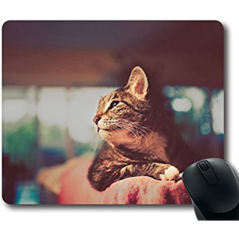 Cat Retro Photography Mouse Pad Oblong Shaped Mouse Mat Design