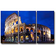 3Piece Wall Art immagine Colosseo a Roma stampe su tela The City PICTURES oil for home Modern Decoration Print Decor
