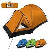 Tente dôme tente de camping SUNSCOUT 2-3 personnes de BB-Sport, Couleur:orange