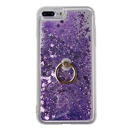 """Étui iPhone 8 Plus 5.5"""" Housse Liquide Étoile, Coque iPhone 7 Plus Quicksand Case, Coque iPhone 8 Plus Silicone, Moon mood® Luxury Mode Souple TPU Housse avec Anneau Titulaire pour Apple iPhone 7 Plus Style -2"""