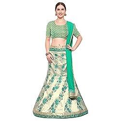Styles Closet Womens Silk Lehenga Choli(BND-7198_Blue_Free Size)