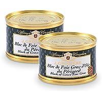 Lot de 2 Blocs de Foie Gras d'Oie du Périgord 65g - Conserve Artisanale