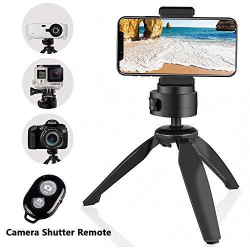 Tripod for Phone and Camera, UBeesize Tabletop Mini Tripod with Cell Phone Clip Holder for iPhone, Smartphones, Gopro, Webcams, Compact Cameras and DSLRs