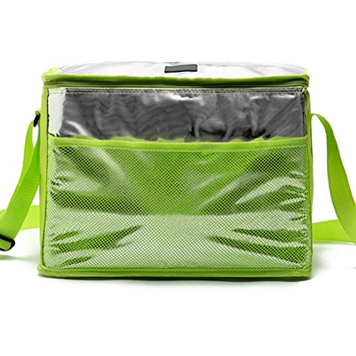 Zhhlaixing High-quality All'aperto Insulated Cooler Bag Picnic Lunch Bag Shoulder Bag Adjustable Green