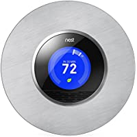 """Bonita cubierta circular para pared de 6"""" en acero inoxidable para termostato Nest de 2ª y 3ª generación de Wasserstein"""