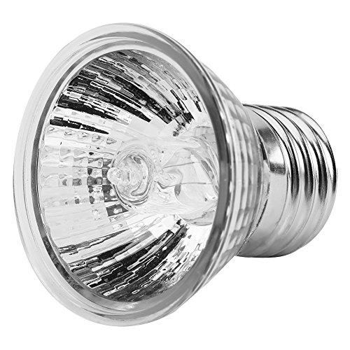 Calore Emettitore Supporto Lampadina Infrarossi Rettile Lampada di Calore in Ceramica Rettile Lampada di Calore in Ceramica Alogeno Faretti Caldo Riscaldamento Rettile Presa Lampada(25W)