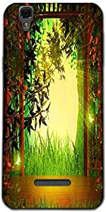 Snoogg Magic Garden Background Wooden Stage Designer Protective Back Case Cov...