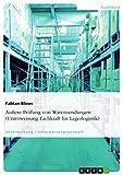 Äußere Prüfung von Warensendungen (Unterweisung Fachkraft für Lagerlogistik)