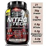 Muscletech Suplemento para Deportistas Nitro Tech Performance Series, Sabor Cookies & Cream - 907 gr