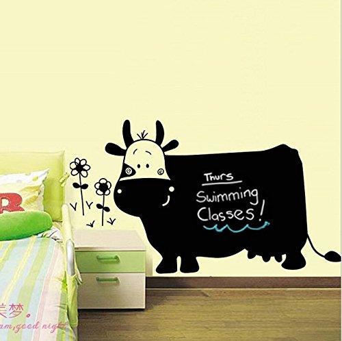 vinilo-adhesivo-de-pared-diseo-de-pizarra-negra-con-forma-de-vaca-extrable