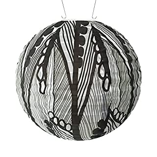 Allsop Home & Garden Soji Round Nylon Printed Solar Lantern 12