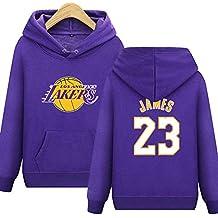 Shocly Felpa Los Angeles Lakers No.23 James Kobe Bryant Pallacanestro Club  Round Neck Manica 2adff8e6909f