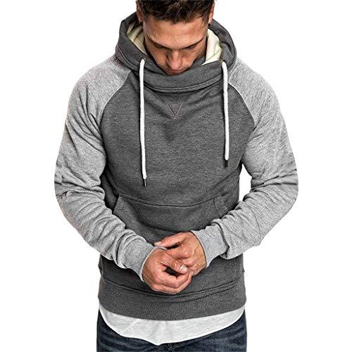 Meclelin Herren Kapuzenpullover Sweatjacke Hoodie Kapuzenjacke Sweatshirt Sweat Hoody Casual Streetwear Basic Style Sport Ärmel Kragen Pullover
