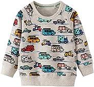 CM-Kid Sudadera de manga larga para niño, algodón, para niños de 1 a 7 años, 92 a 122