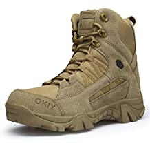 Botas Militares Hombres Tácticas Mujer Trekking Antideslizantes Resistentes  Al Desgaste Zapatos Unisex-Adulto para Actividades 3f78ec65e86