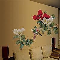 Walplus - Grandi sticker da parete adesivi, decorazione per la casa, peonie, fiori