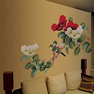 walplus large peony flowers office home decoration wall