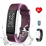Fitness Tracker For Women RONTEN Heart Rate Monitor Activity TrackerAPP 14 Training Modes 096 OLED 8 Days Standby Waterproof Smart Wristband Bluetooth Wireless Activity Bracelet With Replacement Strap