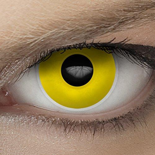 Hochwertige SFX/Spezialeffekt Kontaktlinsen für den professionellen Einsatz bei Theater, Film und Bodypainting (inkl. Pflegemittel + gratis Linsenbehälter) (Krähe) (Halloween Kostüme Brillenträger)