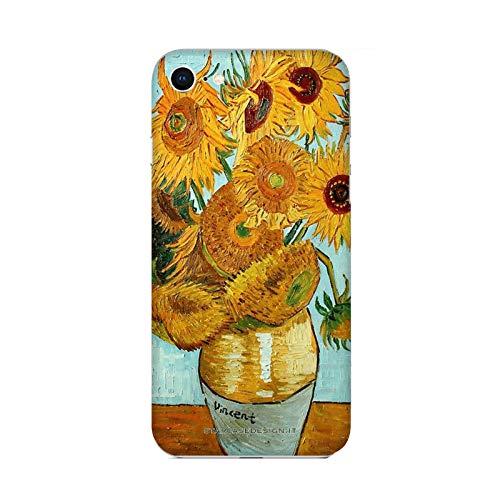 Hülle iPhone 6 Case Apple iPhone 6 Vincent Van Gogh Vase mit Sonnenblumen/Cover Druck auch an den Seiten/Anti-Rutsch Anti-Rutsch Anti-Scratch Schock-resistenten Schutz Schutzulle Starre