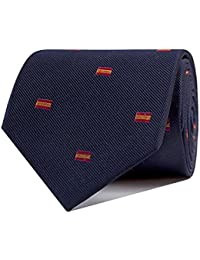 SoloGemelos - Corbata España - Azul, Rojo, Amarillo, Multicolor - Hombres - Talla Unica