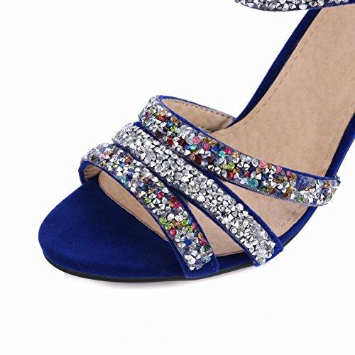 MissSaSa Donna Sandali col Tacco Metà Luxurious Blu