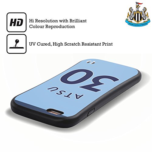 Ufficiale Newcastle United FC NUFC Mohamed Diamé 2017/18 Giocatori Away Kit Gruppo 2 Case Ibrida per Apple iPhone 6 / 6s Christian Atsu