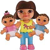 Dora la Exploradora - Surtido de figuras, Dora y los gemelos (Mattel X7995)