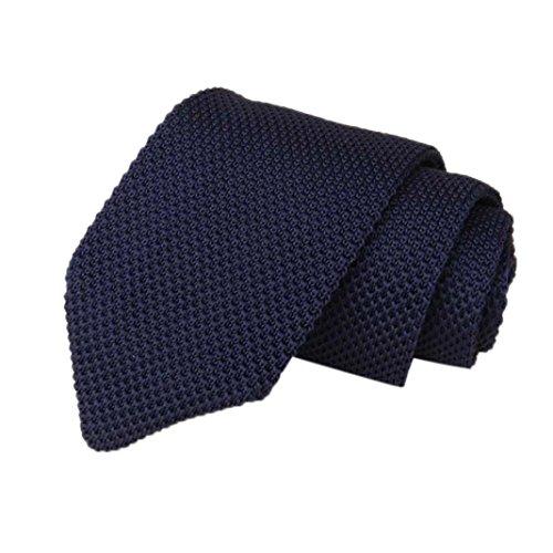 cravate tricot Homme, Moonuy Hommes Classic tricoté crochet cravate rayures cravate Slim Fit tissé cravate maigre Cravates de mariage de partie de cou (J) moonuy_tie