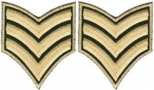 Army Sergeant Abzeichen Aufnäher Bügelbild Patch Applikation