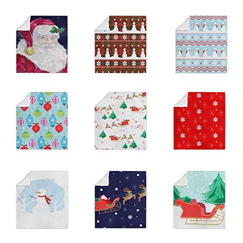 druck Soft Sherpa Fleece Weihnachtsdecke - Weihnachtskollektion - Sleigh And Trees - Small - 75 x 100cm ()