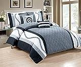 RT Designers Collection Ashburton Comforter Set, Polyester, Black, 106 x 92 x 1 cm