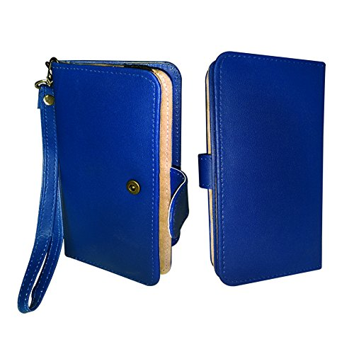 Fastway Pu Leather Pouch Wallet Case Cover For Karbonn Titanium S5i Blue  available at amazon for Rs.369