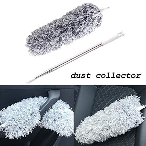 Hahuha Der Staub, Einziehbarer Mikrofaser-Staubsammler zum Reinigen von Fensterautos mit hohen Deckenventilatoren, Reinigungsmittel