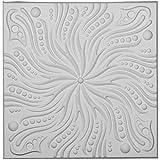 "Ekena Millwork CT24X24SW 24""W x 24""H x 5/8""P Swirl Ceiling Tile"