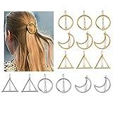 Hair Clip, HBF 15 PCS Antique Gold Silver Metal Girls Hairpin Fashion DIY Geometric Modeling Stylish Jewellery Hair Barrette Hair Accessories