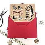 Luxus Kraft Weihnachts Karten tis The Season Tipsy mit dicken Qualität Umschläge, Pack of 6 cards Kraft