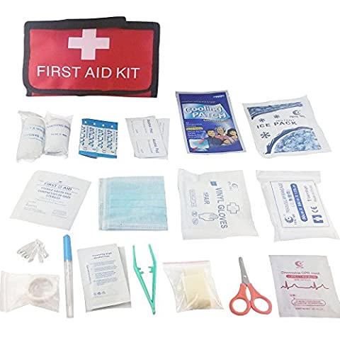 First Aid Kit-Anano First Aid Kit Bag. Packed With Hospital Grade Medical Supplies for Emergency, Idea for Travel, Car, Home, Camping, Work, Hiking, Survival, including Emergency Rescue Blanket, Ice Pack, Banage, CPR