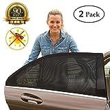 Auto Sonnenschutz für Kinder (2Pack), ermöglicht maximalen UV-Schutz, Fenster zum Öffnen und Shut | schützt, Haustiere und ältere Kinder von der Sonne, dehnbar passend für alle (99%) Autos. Die meisten SUV.
