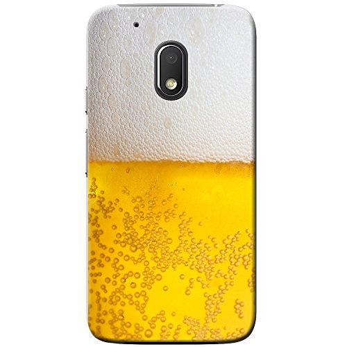 Nahaufnahme schaumiges Bier weiße Krone Hartschalenhülle Telefonhülle zum Aufstecken für Motorola Moto G4 Play