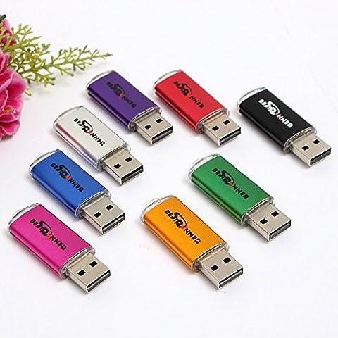 BESTRUNNER Clé USB 2.0 512MB Mo Key Chain Flash Drive Mémoire U-Disque Pr Win 8 PC Cadeau bleu