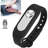 Bracelet enregistreur vocal boîtier amovible 4Go mémoire flash Noir