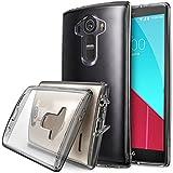 LG G4 Funda - Ringke FUSION ***COMPATITLE Con LG G4 CUERO*** [Protector de Pantalla Gratuito][SMOKE BLACK][Todo Nuevo Polvo Tapa Libre & Caída Protección] Prima Crystal Clear Back Absorción de Choque de Parachoques del Funda Duro con Protección de Pantalla HD Gratis para para LG G4 - Eco/DIY Paquete