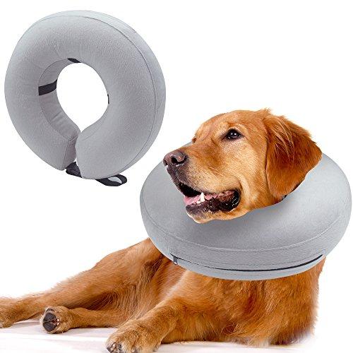 Scenereal Co. Aufblasbares Hundehalsband/Halskrause für die Genesung Ihres Hundes, schützt Ihr Haustier vor Bisswunden, Halsumfang: 31-41 cm
