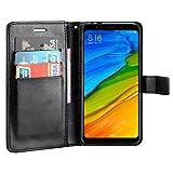 Custodia Redmi 5 Plus,Payxuan Custodia in Pelle Protettiva Flip Cover per Xiaomi Redmi 5 Plus,Nero