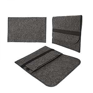 eFabrik universel tablette feutre sac (8.9- 10.1 pouces) protection housse Gris foncé