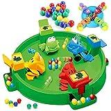 Tomasa Frog Swallowing Essen Bohnen Spiel Kinder Puzzle Interaktives Tischspiel, Frosch, der Bohnen-Spiel Isst (Grün #)