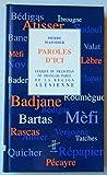 Paroles d'ici - Lexique du francitan, ou français parlé, de la région alésienne